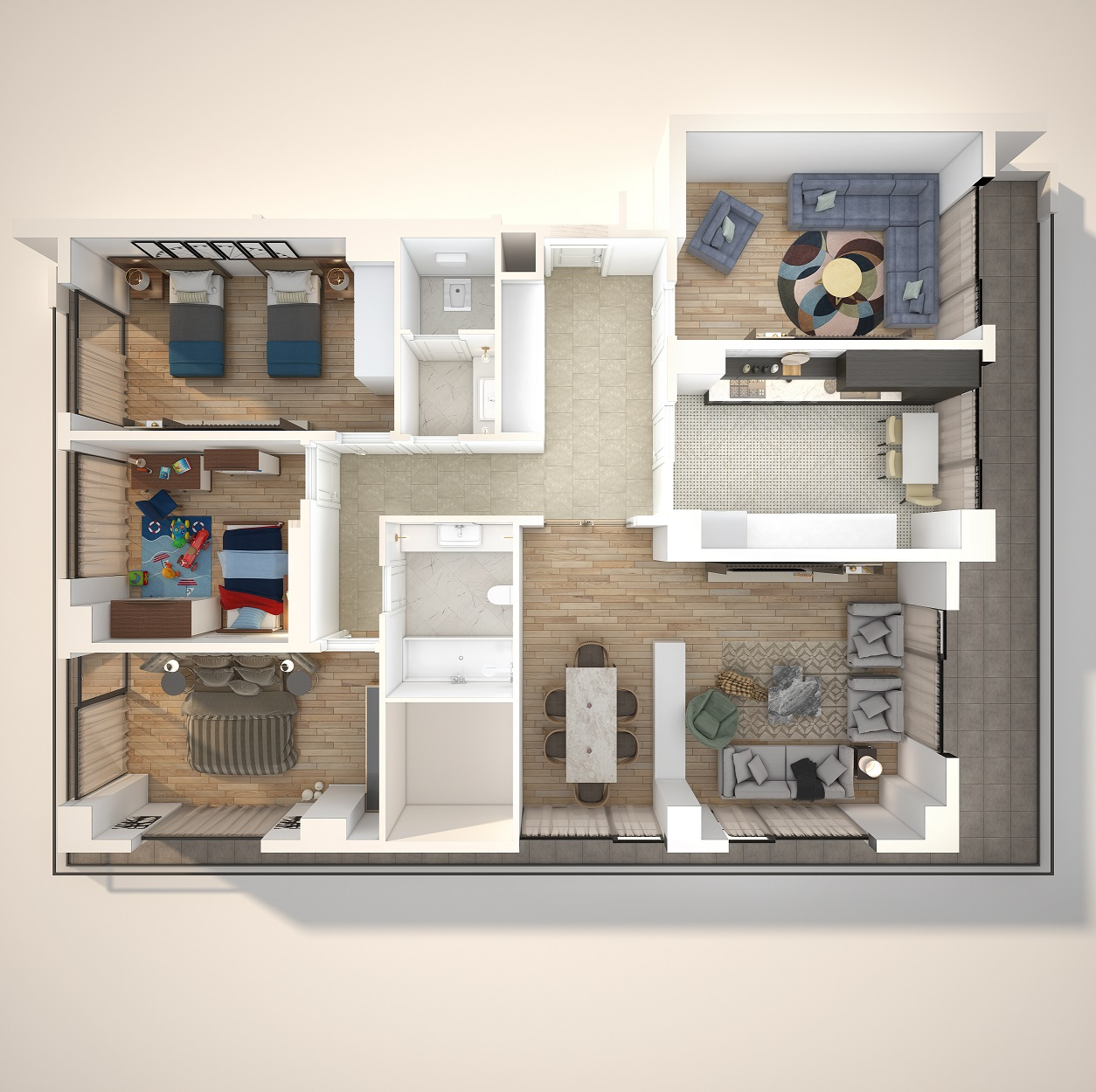 3d Interior Floor Plan Tetla